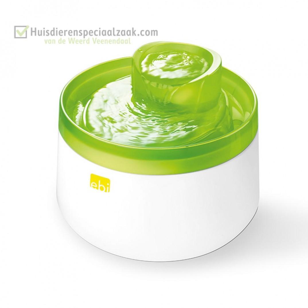 Cascade drinkfontein met inhoud van 1,5 liter en de kleur groen lime, voor hond en kat