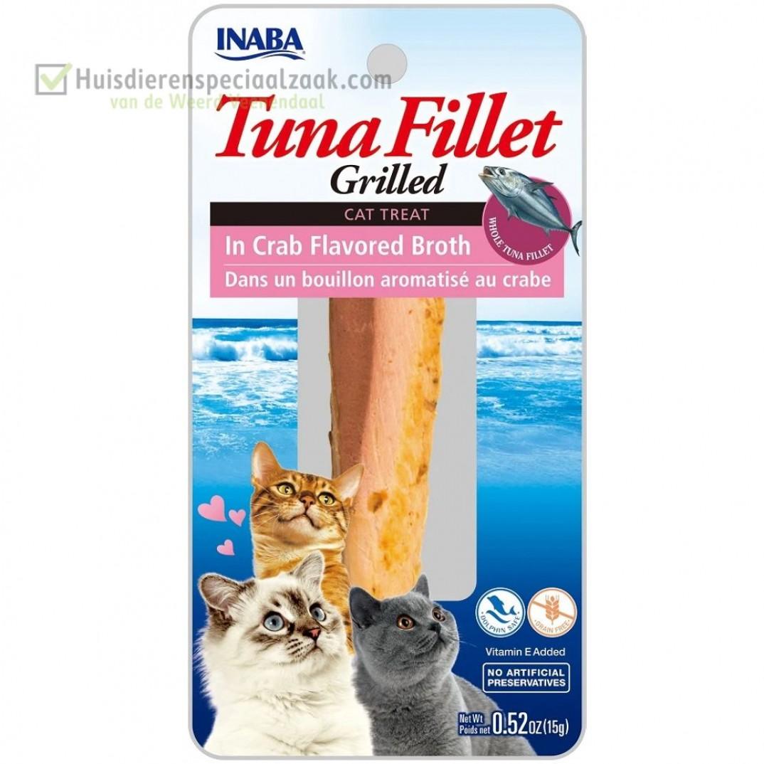 Inaba Ciao zacht gegrilde tonijn katten snack met Tonijn en bouillon