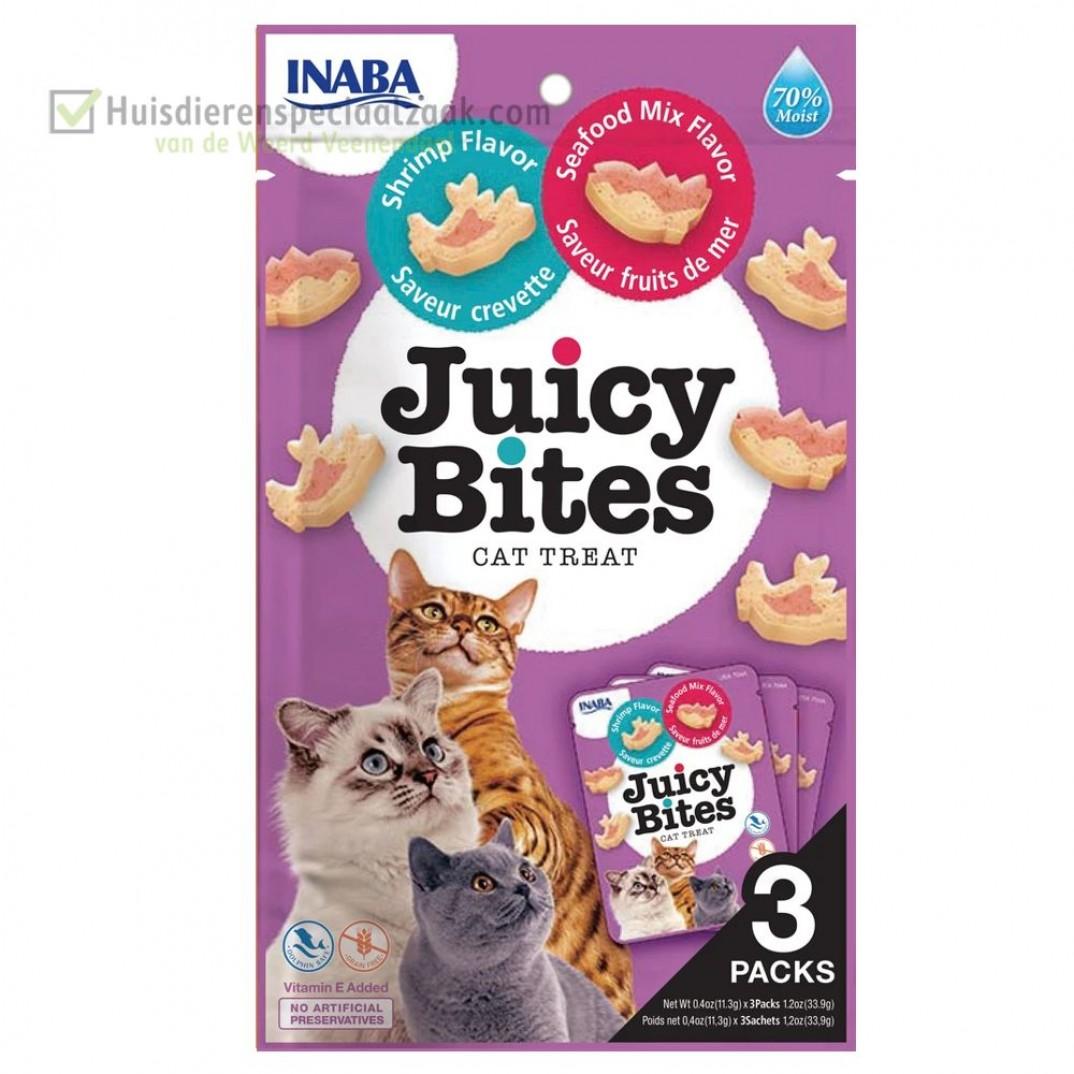 Inaba Ciao juicy katten snack met garnaal en zeevis
