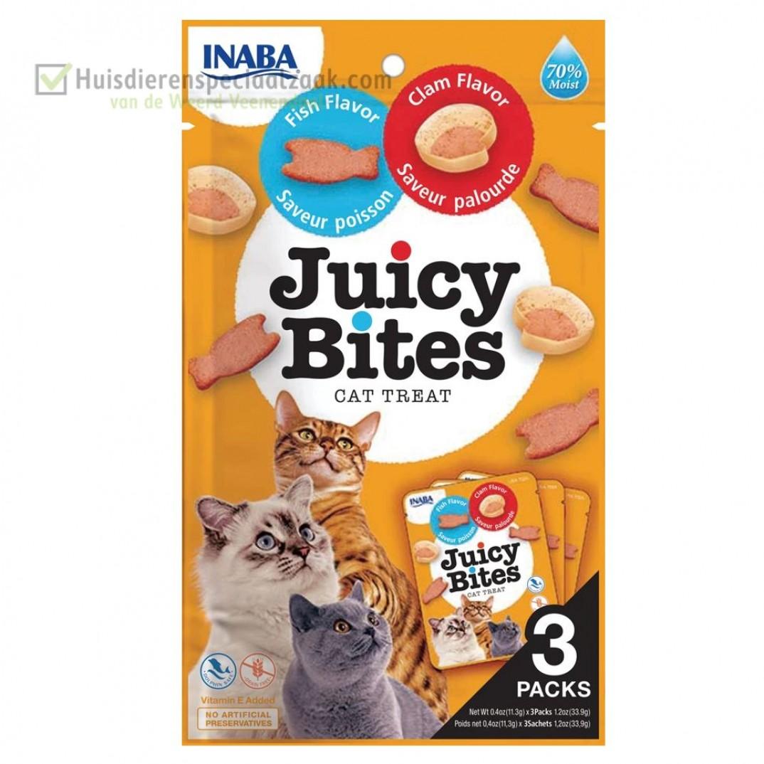 Inaba Ciao juicy katten snack met vis en weekdier